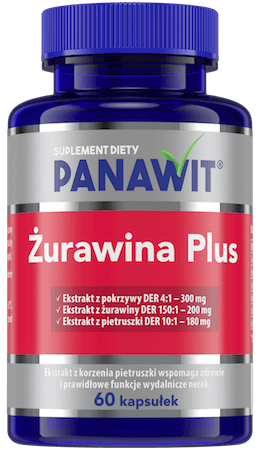 Panawit Żurawina Plus - suplement diety zekstraktem zżurawiny